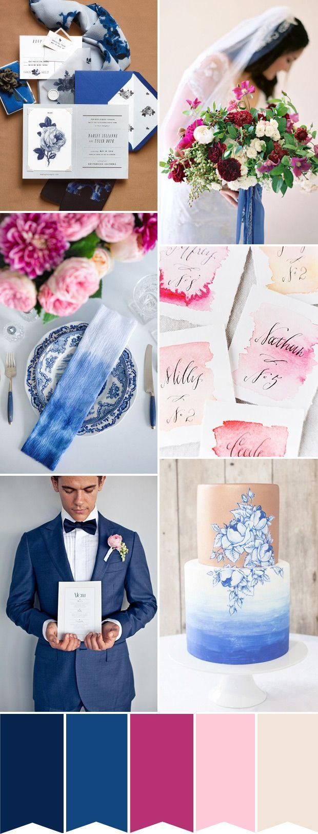 Свадьба - Modern Meets Tradition: A Different Blue & Pink Wedding