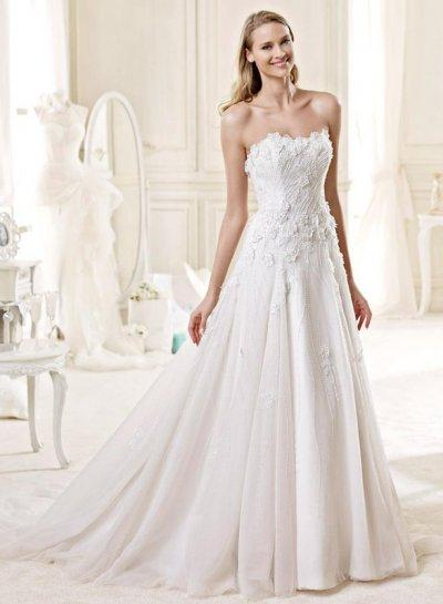 JW15150 Romantic Florals Details Slim A Line Wedding Dress 2015 ...