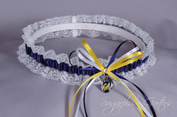 Свадьба - University of California, Berkeley Golden Bears Lace Wedding Garter