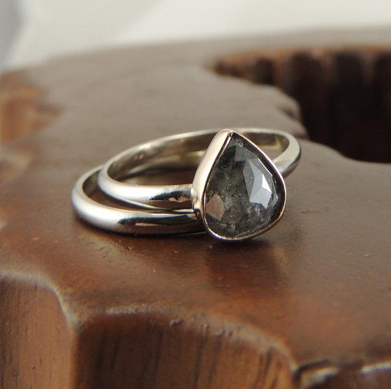 زفاف - Diamond Engagement Ring, Rose Cut Diamond Ring