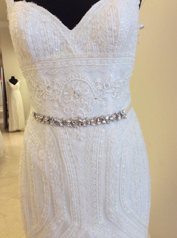Свадьба - Jeweled BRIDAL RHINESTONE SASH, jeweled sash, jeweled belt ,rhinestone belt ,Bridal Crystal belt, Crystal sash, wedding rhinestone belt