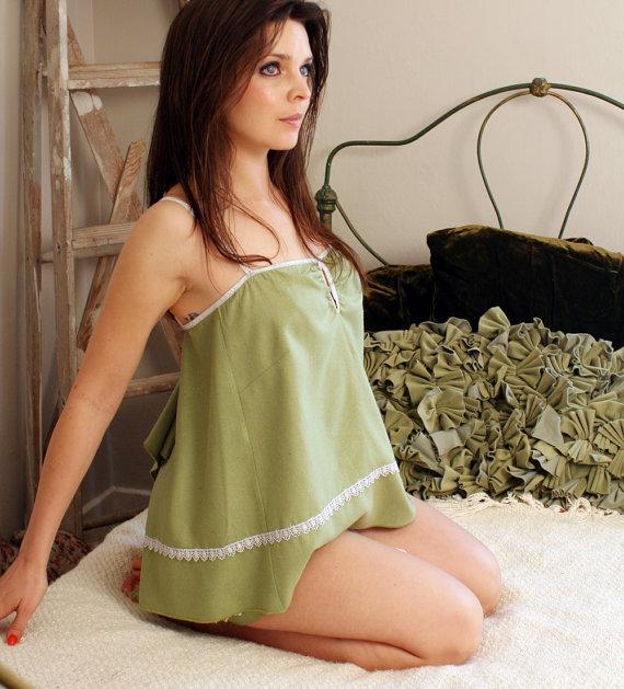 Свадьба - womens sleepwear camisole  - SILK NOIL range - made to order