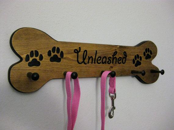 Personalized Dog Leash Holder Organizer Custom Dog Collar