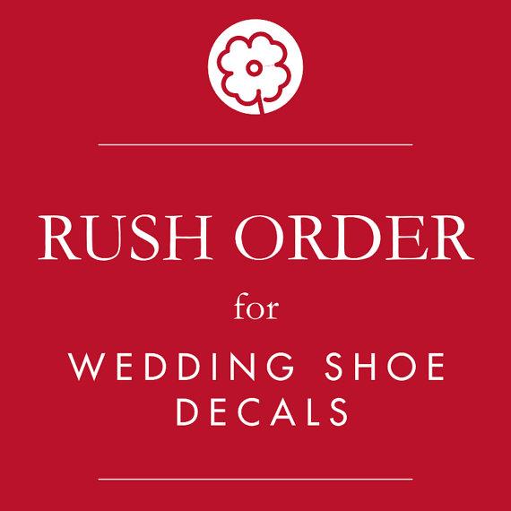 Mariage - RUSH ORDER- Wedding Shoe Decals