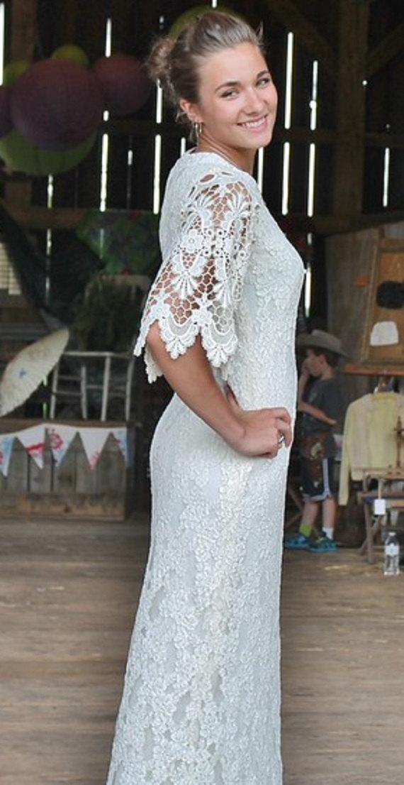 Ivory Boho Lace Wedding Dress - Cowgirl Chic - Junk Gypsy Style ...