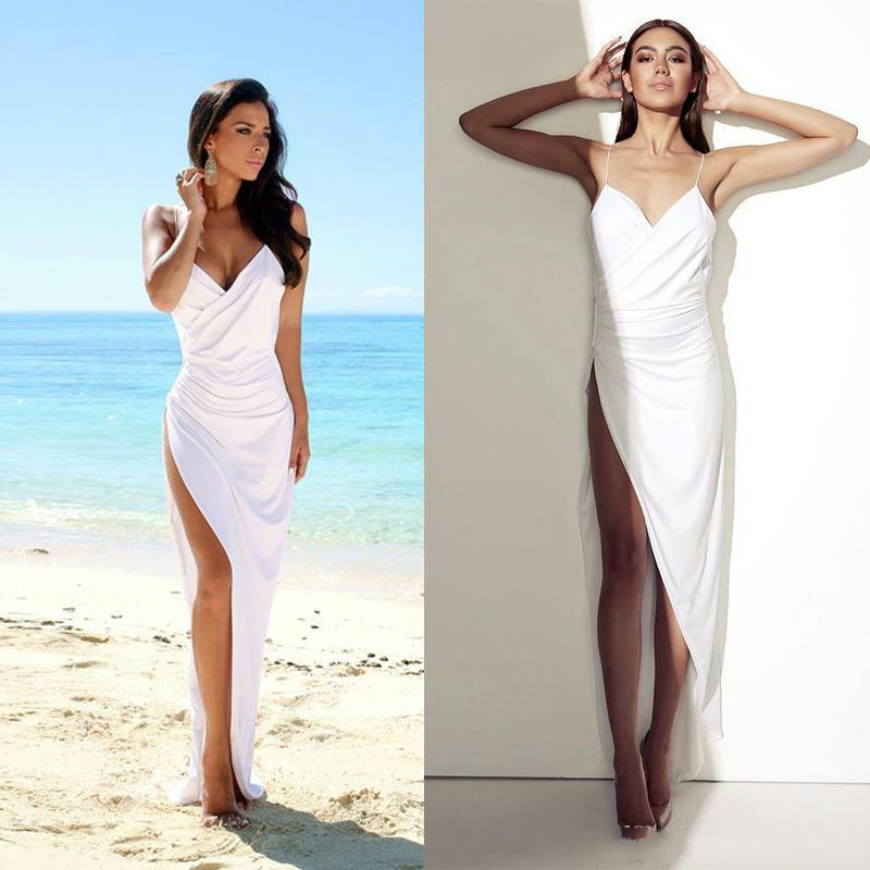 Amzing spaghetti summer beach 2015 straps sheath wedding for Backless sheath wedding dresses