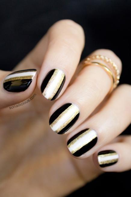 Свадьба - All That Glitters: Gold Nail Designs We Love