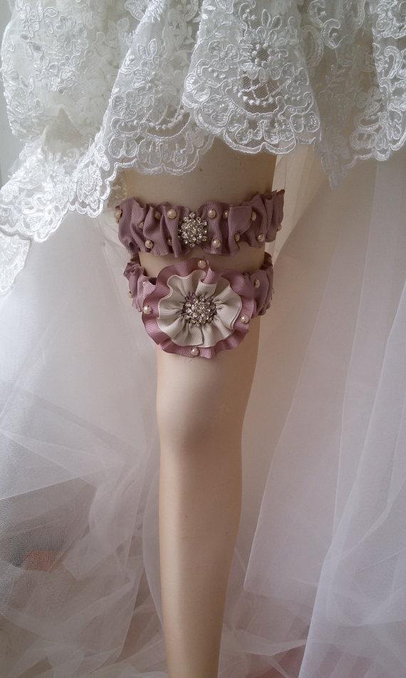 Свадьба - Wedding leg garter, Wedding Garter Set , Ribbon Garter Set , Wedding Accessory, Pink Lace accessories, Bridal garter
