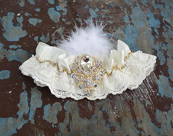 Свадьба - Wedding leg garter, Wedding accessoaries, Bridal garter , Bridal lace, İvory lace garter, Wedding shine garter