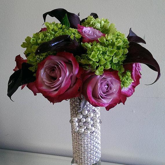 Boda - Rhinestone Bridal Bouquet Holder