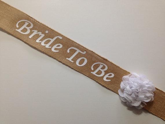 Mariage - Burlap Bachelorette Sash - Burlap Bridal Shower Sash - Basic Burlap ***Design Your Own Sash***