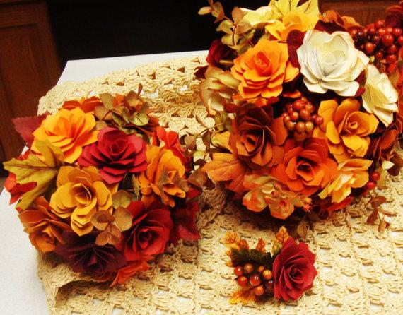 Mariage - Paper Flower  Wedding Complete Wedding Package Make your own customized bouquets