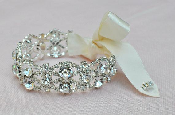 Свадьба - Bridal Jewelry-- Beaded Wedding Bracelet