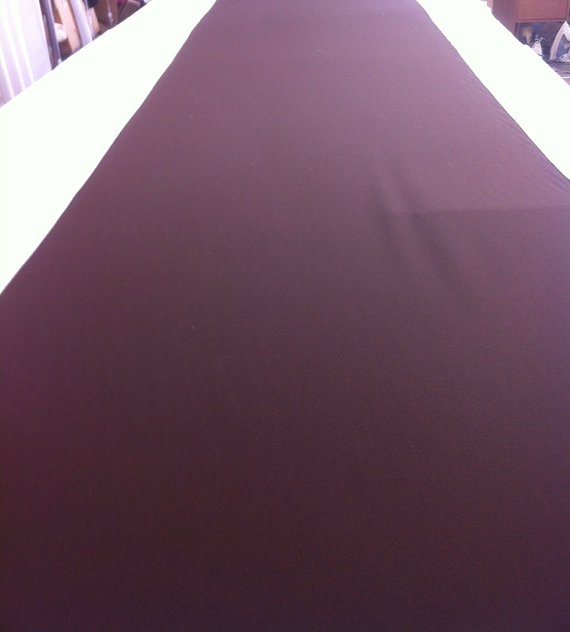 Mariage - Chocolate Brown Custom Made Aisle Runner 50 feet by 36 Inches Wide