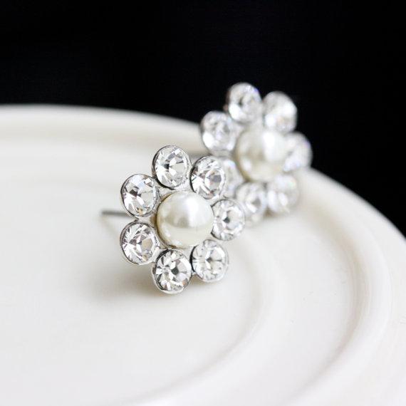 bridal earrings stud post earrings small wedding earrings