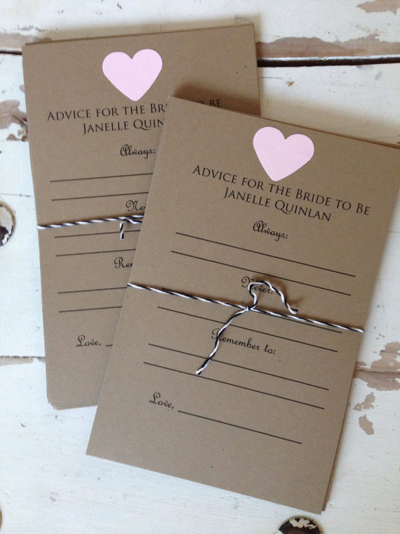 bc910d498a0 Advice for the Bride to Be Cards. Bridal Shower. Lingerie Party. Wedding  Guestbook. Shower Game.