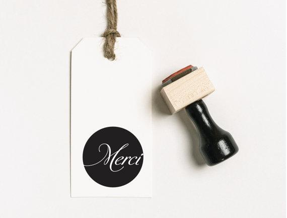 Mariage - Merci Stamp, Thank You Stamp, Wedding Stamp, Favor Stamp, Wedding Invitation Rubber Stamp, Wedding Day Stamp, Invitation Stamp, (03.006)