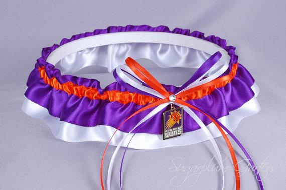 Hochzeit - Phoenix Suns Wedding Garter