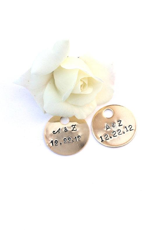Mariage - Personalized Wedding Boutonniere Charm Bride Bouquet Charm, Ring Bearer Pillow Charm, Personalized Wedding Keepsake