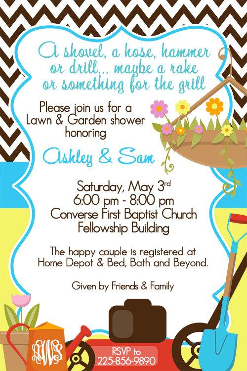 Lawn And Garden Shower Invitations is amazing invitations example