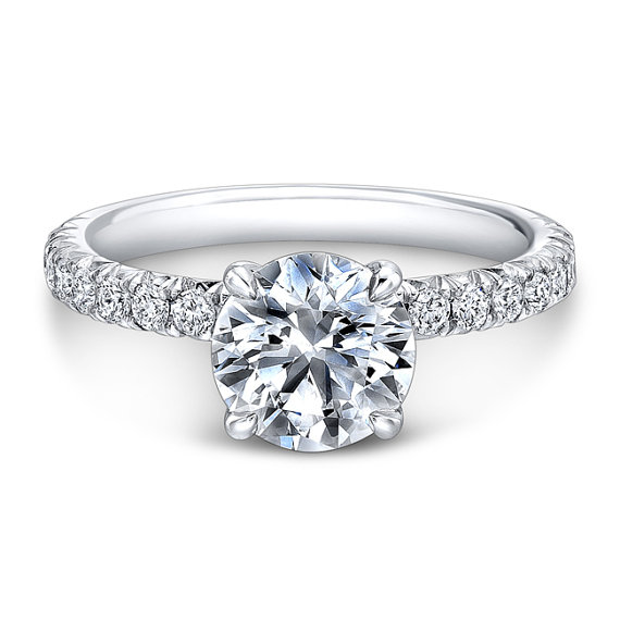 solitaire pave engagement ring 2303776