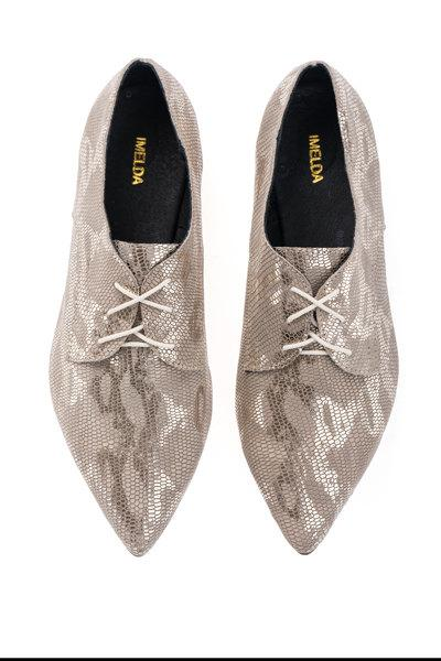 Mariage - Sale 50% off Flat oxford shoes - shiny snake skin pattern flats women shoes - Last sizes FREE SHIPPING - handmade by ImeldaShoes