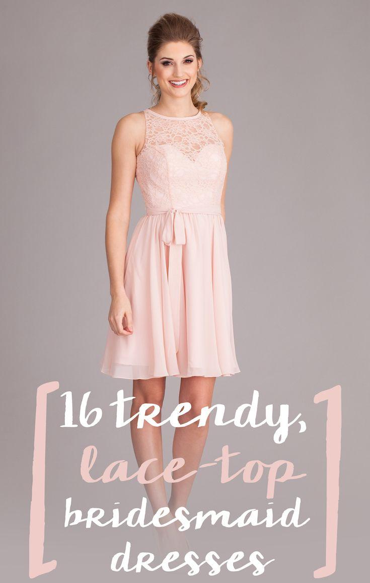Düğün - Trend-Setting, Lace-Top Bridesmaid Dresses
