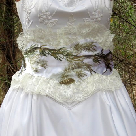 Camo Wedding Sash White Sashes And Belts Rustic Fall Outdoor Realtree Bridal Accessories