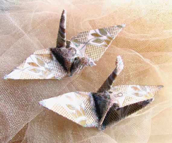 Wedding Cake Topper Art Deco Peace Crane Bird Party Favor Origami