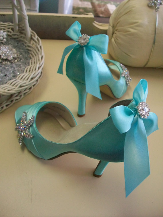 Wedding Starfish Shoes Beach Peep Toe With Crystals And Bow