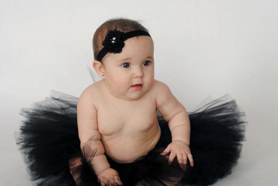 8e4eaa3cc486 Black Chiffon Headband...Soft FOE Headband...Baby Headband  2304040 ...