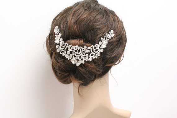 زفاف - Bridal hair jewelry wedding hair comb bridal hair comb Rhinestone bridal headpiece wedding hair accessory wedding hair jewelry bridal comb