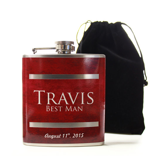 Свадьба - Personalized Wedding Party Gifts, Custom Flasks for Groomsmen