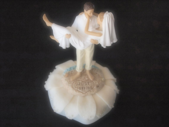Свадьба - Wedding Cake Topper Bride Groom Ivory