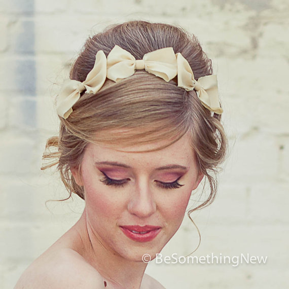 Hochzeit - Three Little Bows Headband for Adults, Women Hair Accessory, Fashion Hair Accessories, Hair Accessories Bow