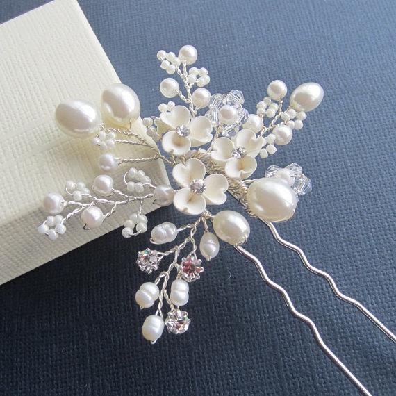 Hochzeit - Bridal Flower Hair Pin, Candice Hair Pin, Wedding Hair Accessories, Bridal Head Piece, Bridal hair Pin, Bridal Headpieces,Bridal Headpiece,