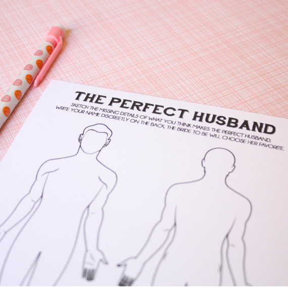 زفاف - The Perfect Husband- Shower Activity