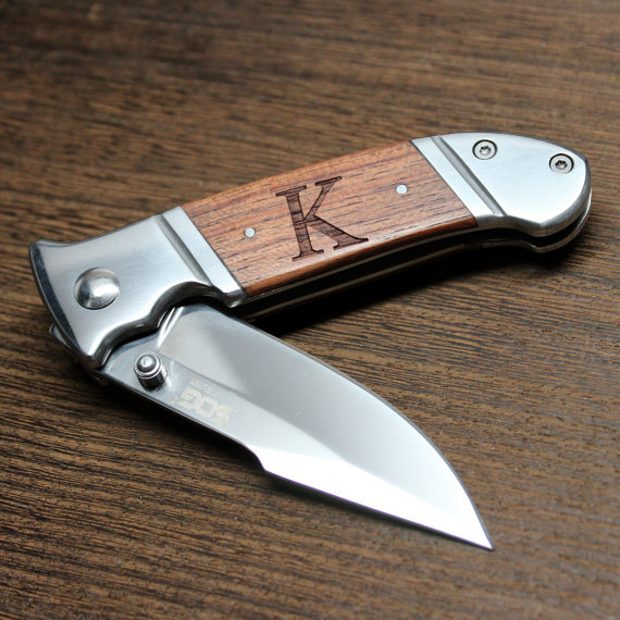 Wedding - SOG Knives: Fielder Mini - Hunting, Camping Knife, Personalized Groomsmen Gift, Gift for Best Man, Him, Dad, Father's Day, Birthday