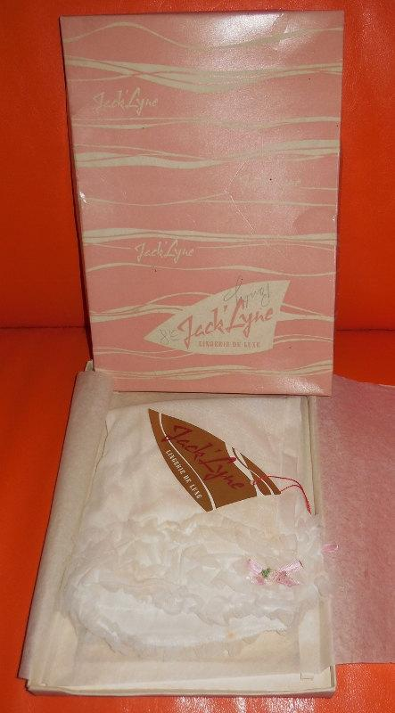 Wedding - DEADSTOCK Vintage 1950s Nylon Panties White Ruffled NWT Unworn in Box Burlesque Pinup Rockabilly French Knickers Bloomers Jack' Lyne S
