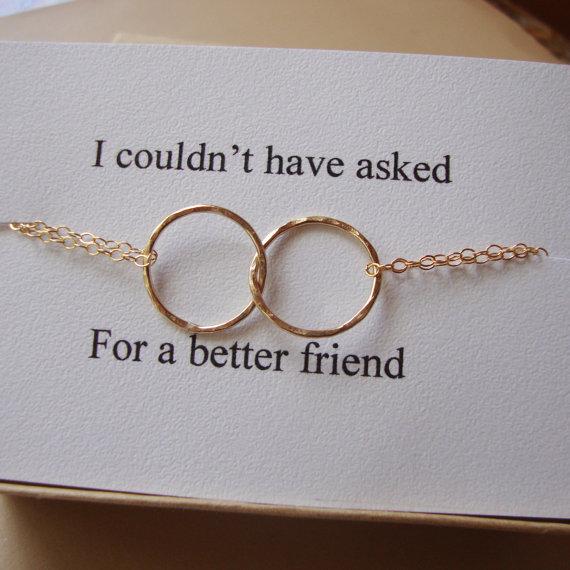 Eternity Gold Circle Bracelet Amp Card Set