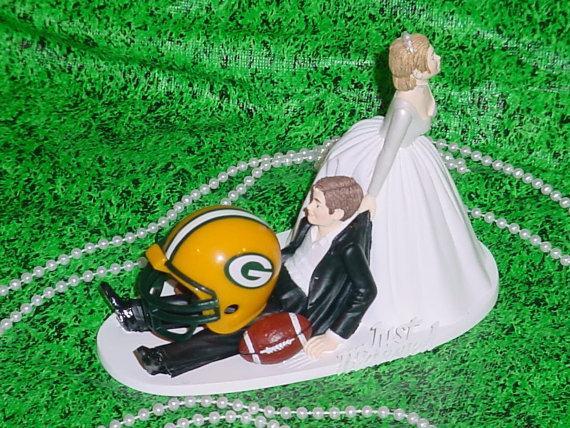 Greenbay Packers Football Fun Groom Funny Wedding Cake Topper- NFL ...