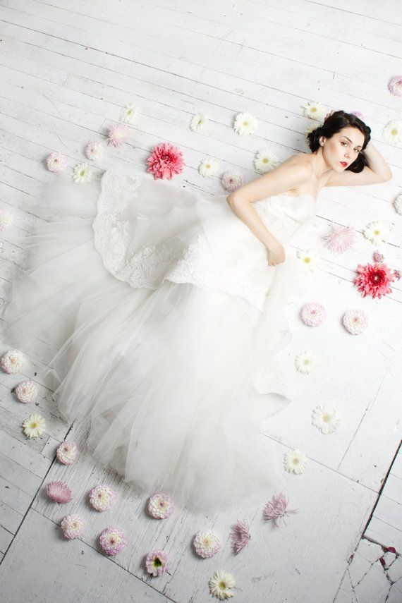 Свадьба - Swan Song - Romantic Silk Organza And Tulle Wedding Gown
