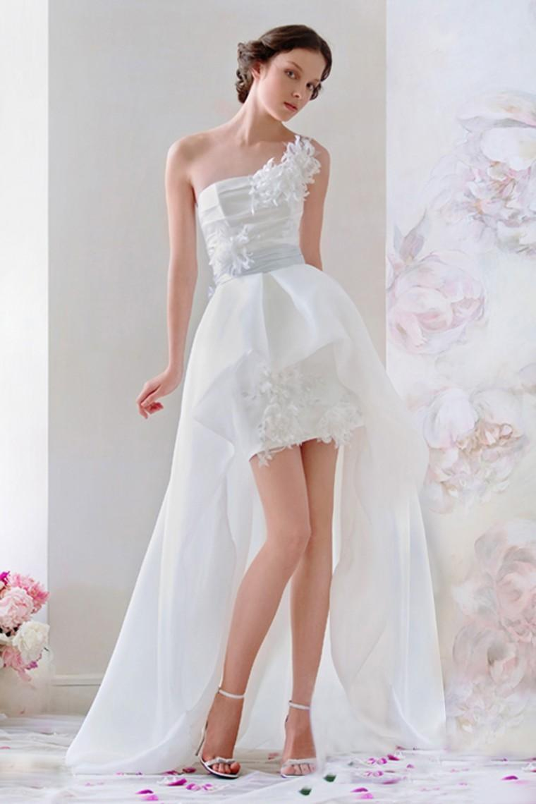 Stunning 2015 Short Mini Wedding Dresses Beach Spring Garden Chiffon ...