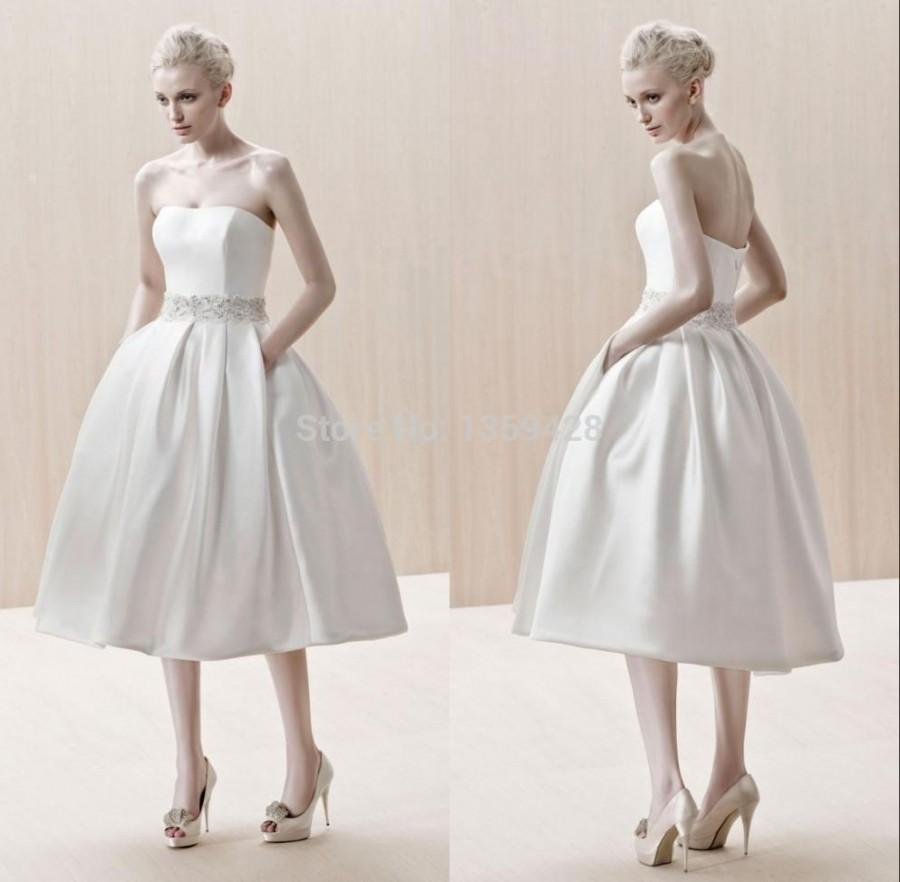 Garden Tea Length Wedding Dress