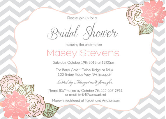 زفاف - Bridal Shower Shabby Chic Invitation