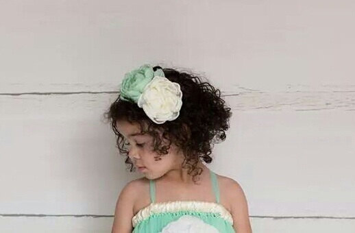 Wedding - Custom Ivory and Mint Flowergirl Headband - Ivory Headband - Mint Bridesmaid Headband - Ivory Wedding Customize your colors