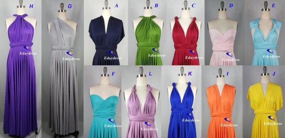 Wedding - Jersey Wrap Convertible Green Infinity Dress Evening Dresses Straight Hem Floor Length Bridesmaid Dress