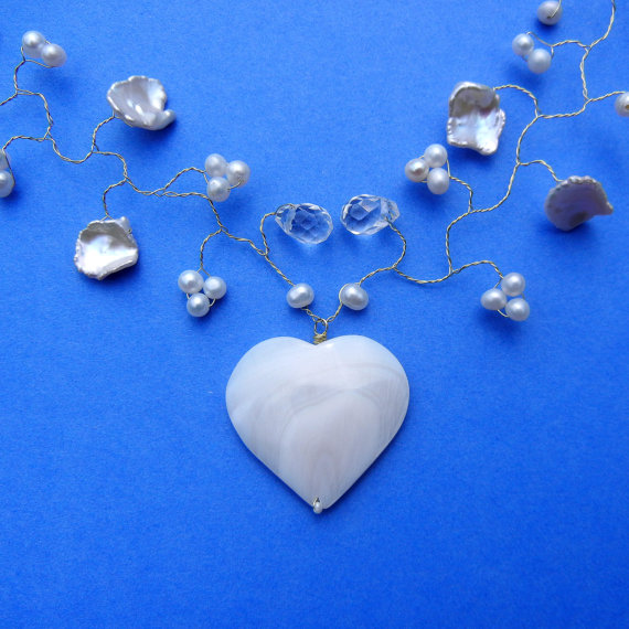 Mariage - Heart Hair Vine or Bouquet Vine  or Halo or Necklace - My Heart