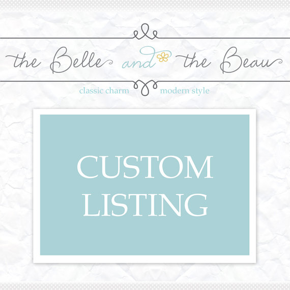Mariage - Custom Wedding Order- Reserved for special customer Jena