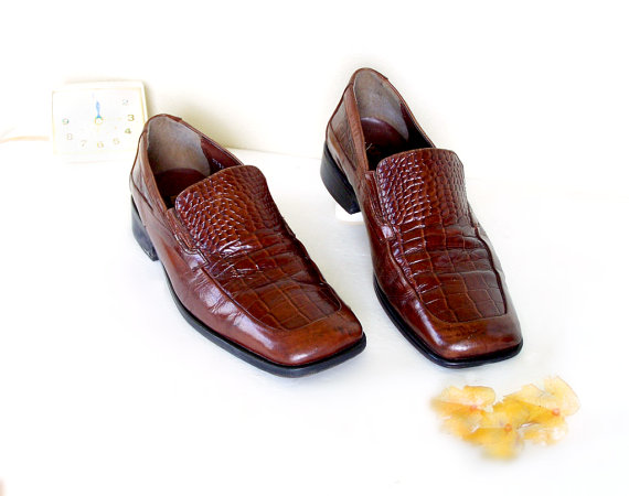 d6b922e6a8ed0 SALE: Stacy Adams Mens Brown Leather Loafers, Slip Ons Men Sz 9 ...